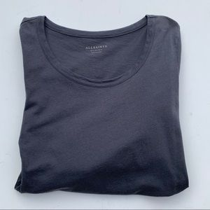 ALL SAINTS Scoop Neck Long Sleeve Tee